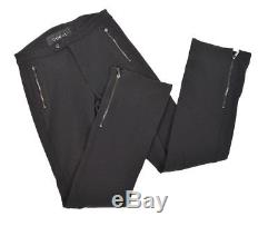 GUCCI Womens Wide Flare Leg Zipper Sexy Skinny Fit Designer Pants Trousers Sz 48