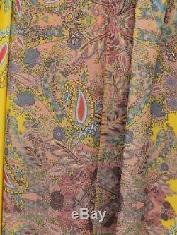 Genuine Zara Long Loose Fit Paisley Print V Neck Belted Maxi Dress New