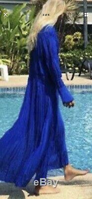 H&M Studio Collection Loose Fit Comdciou Exclusive SS20 Blue Maxi Dress Size 14