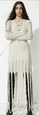 H&M Studio SS21 Fringed Tasselled Fitted Dress Size S BNWT