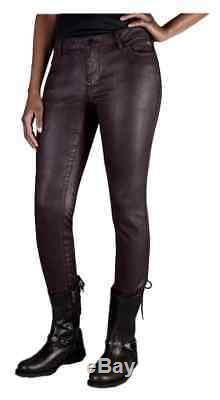Harley-davidson Women's Skinny Purple Midrise Jeans 96125-17vw Size 27 Reg Fit