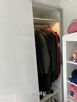 IKEA Fitted Wardrobe, 5 Doors Including Lighting Rails Shelves And Drawers