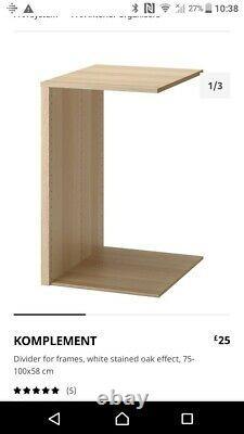 IKEA Pax wardrobe 200x200x58cm WITH mirrored Malm sliding doors & fittings