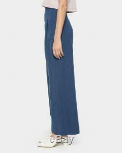 ILANA KOHN Boyd Royal Blue High Waisted Wide Leg Loose Fit Full Length Pants 6