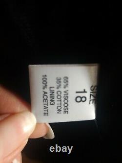 J TAYLOR Full Length Maxi Black Faux Astrakhan Fur Coat Plus Size 18 fit 20 22