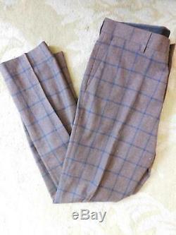 JCrew Ludlow Slim-fit Pant in Windowpane Wool Blend 32/32 J8479 Brown
