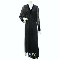 JEAN PAUL GAULTIER vintage maxi long sleeved dress in black Size M (fits XS-L)