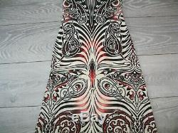 Jean Paul Gaultier 90's Cyberbaba Collection Fitted Knit Maxi Dress-Maori/Tribal