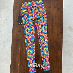 K Deer NWT Rainbow Tie Dye Full Length Leggings Medium