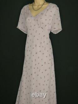 LAURA ASHLEY Vintage Ditsy Fleur Empire Fitted Embroidered Evening Dress, 16/18