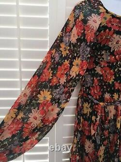 LILY & LIONEL Floral Indian Sunset Dress'Lily Lione' Size M/L Fits Uk 12