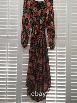 LILY & LIONEL Floral Indian Sunset Dress'Lily Lione' Size M/L Fits Uk 12