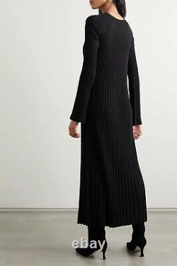 LOULOU STUDIO PARIS RIBBED MAXI DRESS Black XS