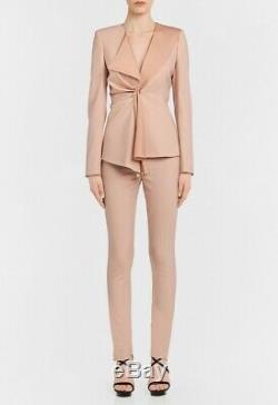 La Perla Pale Blush Virgin Wool skinny Fitted trousers withsilk lining Sz 6 $630