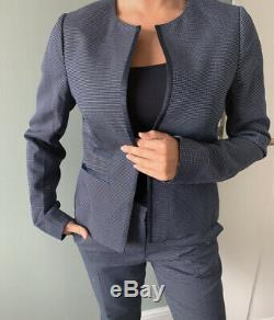 Ladies Worn Once Jaeger Navy 2 Piece Smart Fitted Skinny Suit