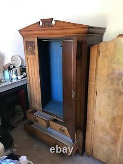 Large Double Fitted Art Deco Wardrobe with 3/4 length front mirror