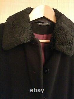 Laura Ashley Black Full Length Riding Coat Size 10 but would fit 12