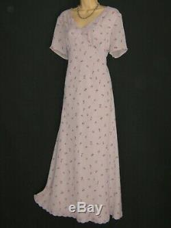 Laura Ashley Vintage Ditsy Fleur Empire Fitted Embroidered Maxi Dress, 16/18