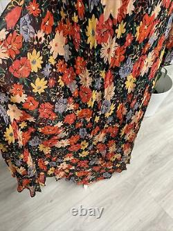 Lily And Lionel Indian Sunset Red Yellow Maxi Dress Size S/m Fits 8-14 Rrp £250
