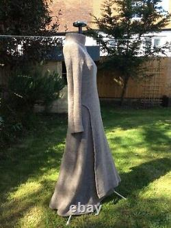 Lisa D Amazing Medieval Style Maxi Wool Dress, Boucle, Fits UK10