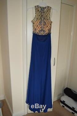 Long Formal Ball Gown Party Prom Bridesmaid Evening Dress Size 8(will fit 10&12)