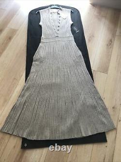 Loulou Studio Ribbed Wool Button Up Maxi Dress Medium Bnwt
