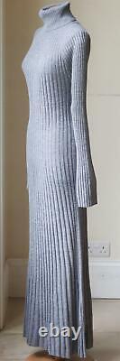 Loulou Studio Ribbed Wool Turtleneck Maxi Dress Large