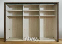 Luxury German Mobel Sliding Wardrobe Bedroom White Mirror Oak Glass Fitted Free