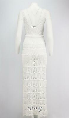Melissa Odabash And Julien Macdonald Adela Crocheted Cotton Maxi Dress Small