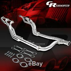Metallic 4-2-1 Long Tube Exhaust Manifold Header+y-pipe Fit 92-00 Chevy Gmc C/k