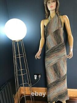 Missoni Orange Label Metallic Maxi Dress- Full Length Halter Neck Stunning