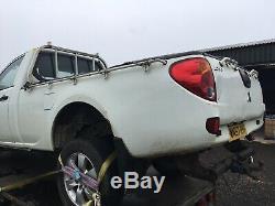 Mitsubishi L200 Single Cab Full Length Tub Fits 06-16 Choice Of 2 Black / White