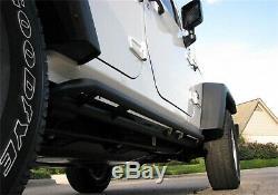 N-Fab J074RKR RKR Rock Rails Full Length Fits 07-18 Wrangler Wrangler (JK) BPF