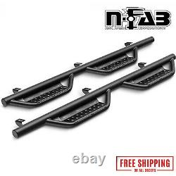 N-Fab RS Textured Black Full Length Nerf Steps Fits 2020-2021 Jeep Gladiator