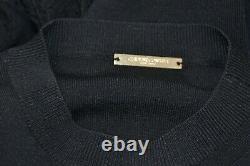 NEW Caroline Constas Knit Maxi Long Fitted Dress Black Ajour S M