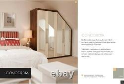 NEW Fitted Wardrobe Doors (Barratt David Wilson Symphony) Off White Mirror Panel