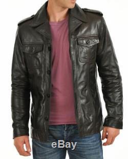 NOORA Men's Genuine Lambskin Leather Jacket Slim fit Biker NI-76