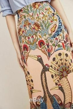 NWT Anthropologie Mixed-Print Maxi Skirt sz XXSP Farm Rio Fits S Crane XXS