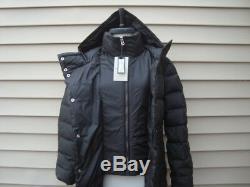 NWT COLE HAAN Hidden Zip Inter Zip Vest Fitted Full Length Down Coat Jacket Sz L