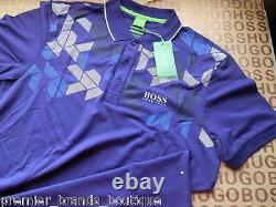 New Hugo Boss Mens Blue Paddy Mk Paule Plisy Pro Jersey Suit Polo T-Shirt Large