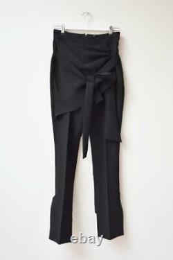 New MATICEVSKI Recovery Black Crepe Wrap Front High Waist Pants AU6 Fit AU8