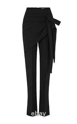 New MATICEVSKI Recovery Black Crepe Wrap Panel High Waist Pants Sz 6 Fit 8
