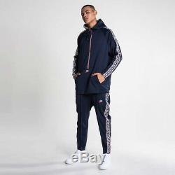 Nike Sportswear NSW Taped Poly Tracksuit XL-Top 2XL-Pants Obsidian Gym Red Sail