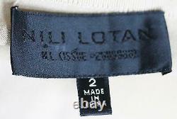 Nili Lotan Azalea Silk Satin Maxi Skirt Us 2 Uk 6