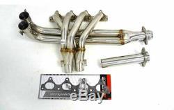 OBX Racing 4-2-1 Header Manifold Fits 1990-91 Honda Prelude 2.0L / 2.1L I4 No-O2