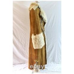 Original Shearling Made in Italy Full Length Coat Fits US 6 8