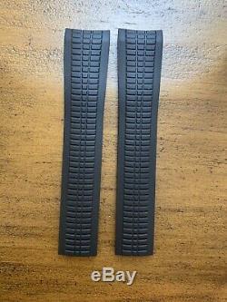 Patek Philippe watch 21x18 Black Aquanaut 5167 strap. Full length. Cut to fit