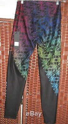 Peloton Geo Pride Prism Leggings WITH Wear It To Heart L womens New black