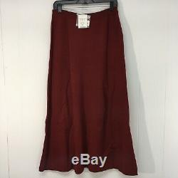 Peruvian Connection Alpaca Wool Maxi Skirt Fit & Flare Ruby Large NEW Knit