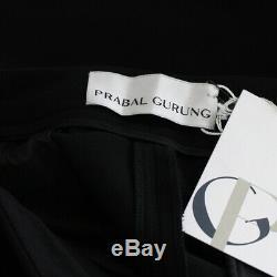 Prabal Gurung Black Tailored-Fit Flared Leg Trousers US6 UK10